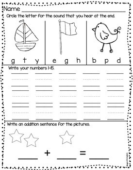 Kindergarten Morning Work February By The Daily Alphabet Tpt - Download Kindergarten February Morning Worksheets Gif