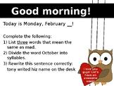 February Morning Powerpoint (Full)
