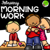 February Morning Work Preschool Kindergarten First Grade H