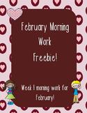 February Morning Work Week 1 Freebie!