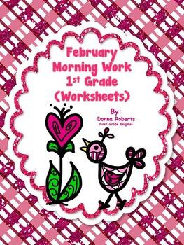 February Morning Work Worksheets