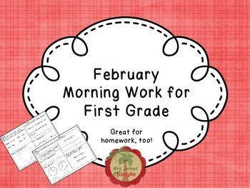 February Morning Work for First Grade