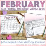 February Morning Work for Kindergarten