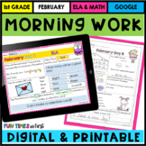 February Morning Work First Grade