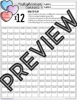 February Multiplication & Division Fluency Games