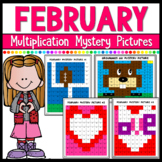 February Multiplication Mystery Pictures