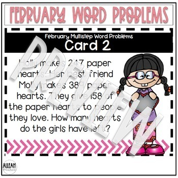 Multistep Word Problems {February}