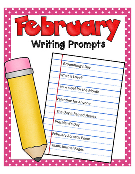 February NO PREP Journal Prompts