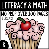 February NO PREP Kindergarten Packet-OVER 100 PAGES!