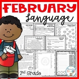 February NO PREP LANGUAGE printables - 2nd Grade