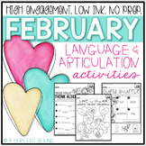 February NO PREP: Language & Articulation