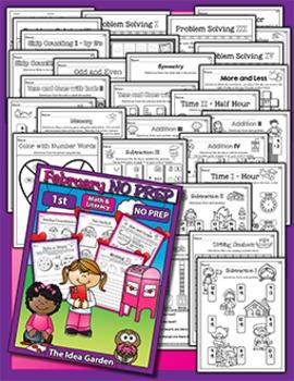 February NO PREP - Math & Literacy (First)