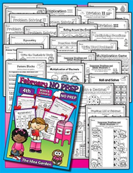 February NO PREP - Math & Literacy (Fourth)
