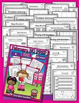 February NO PREP - Math & Literacy (Kindergarten)