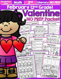 February NO PREP Math and Literacy (2nd Grade)