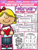 February NO PREP Packet (Preschool)
