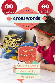 Puzzles for Crosswords -  30 Topics, 60 Pages