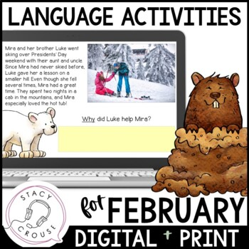 February NO PRINT Language Pack Interactive PDF {With Print Option}