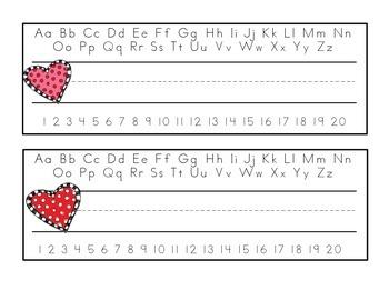 February Nameplates