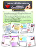 February Newsletter Editable Template