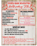 February Newsletter template Hearts