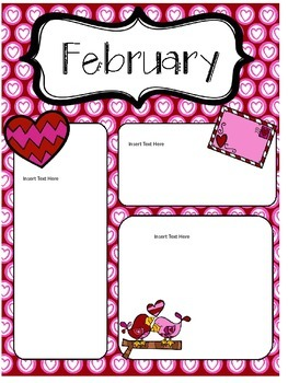 February Newsletters *Editable*