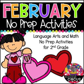 February No Prep Activities (2nd Grade)