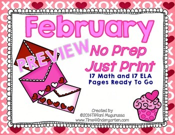 February No Prep Just Print PREVIEW