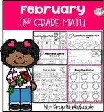 February No Prep Math- 3rd Grade