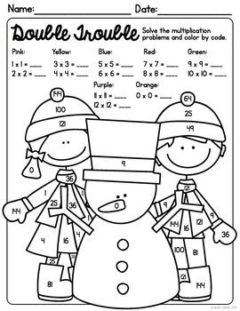 February NO PREP Math Printables