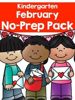 February No-Prep Pack for Kindergarten