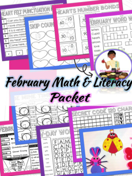 February Math And Literacy 1st Grade Valentines Day Craft Early