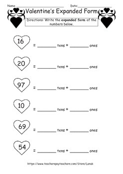 February No Prep Place Value Packet