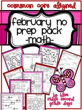 February No Prep Preview Freebie Pack