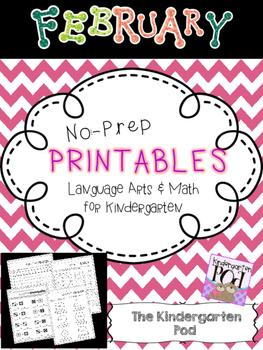 February No-Prep Printables