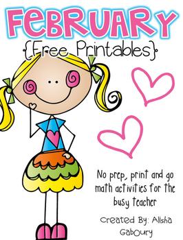 February No Prep Printables [Free Sampler]