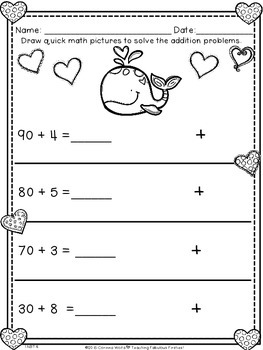 February No Time For Prep! First Grade Math *FREEBIE* 1.OA. & 1.NBT