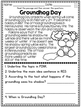 February Reading Comprehension - Nonfiction Passages by ...