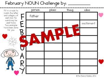 February Noun & Adjective Challenge