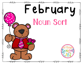 February Noun Sort