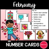 February Number Cards