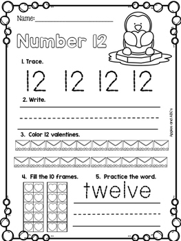 February Number Printables