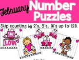 February Number Puzzles {Skip Counting up to 120}