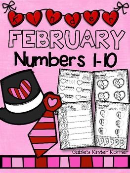 February Numbers 1-10 *Print-N-Go!*