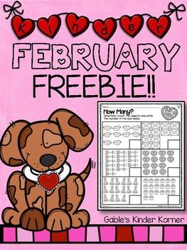 February Numbers 10-20 FREEBIE!!