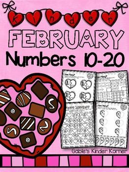 February Numbers 10-20 *Print-N-Go!*