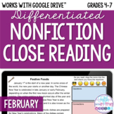 February ONLINE Differentiated Nonfiction Close Reading Te