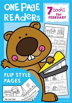 February One Page Readers - Printable Flip Books