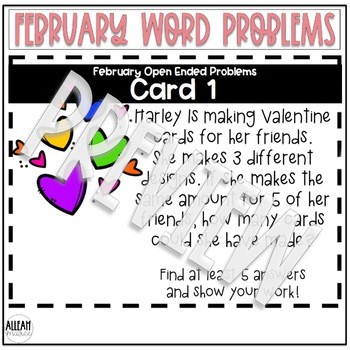 February Open-Ended Word Problems
