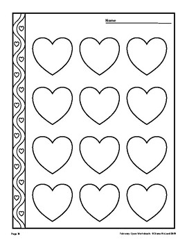 February Open Worksheets — Valentine's Day and Groundhog's Day!